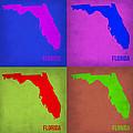 Florida Pop Art Map 1 by Naxart Studio