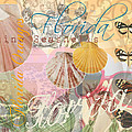Florida Seashells Collage by Mary Hubley