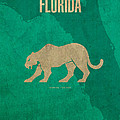 Florida State Facts Minimalist Movie Poster Art  by Design Turnpike