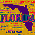 Florida State Pride Map Silhouette  by Keith Webber Jr