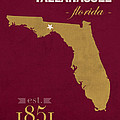 Florida State University Seminoles Tallahassee Florida Town State Map Poster Series No 039 by Design Turnpike