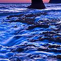 Flow - Dramatic Sunset View Of A Sea Stack In Davenport Beach Santa Cruz. by Jamie Pham