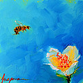 Flower And A Bee by Patricia Awapara