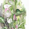 Flower Anthurium 04 Elena Yakubovich by Elena Yakubovich