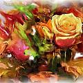 Flower Bouquet Greetings by Usha Shantharam