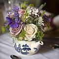 Flower Bouquet In A Teapot by Lee Avison