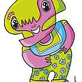 Flower Girl Doodle Character by Frank Ramspott