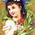Flower Girl by Vintage Trading Cards