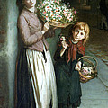 Flower Girls A Summer Night by Augustus Edwin Mulready