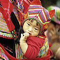 Flower Hmong Baby 01 by Rick Piper Photography
