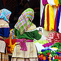 Flower Hmong Wool Stall by Rick Piper Photography