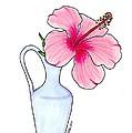 Flower In Jug by Jane Miles