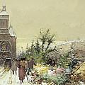 Flower Market Marche Aux Fleurs by Eugene Galien-Laloue
