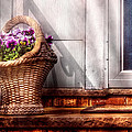 Flower - Pansy - Basket Of Flowers by Mike Savad