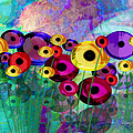 Flower Power Abstract Art  by Ann Powell