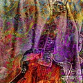 Flower Power Digital Guitar Art By Steven Langston by Steven Lebron Langston