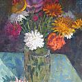 Flowers And Glass by Terry Perham