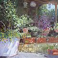 Flowers At Lida's Veranda by Ylli Haruni