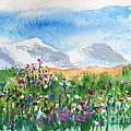 Flowers At Wolf Creek by Walt Brodis