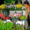 Flowers For Sale In Marketplace In Tachilek-burma by Ruth Hager