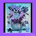 Flowers In A Vase With Lilac Border by Barbara Griffin