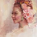 Flowers In Her Hair - Portrait by Talya Johnson