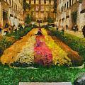 Flowers In Rockefeller Plaza by Dan Sproul