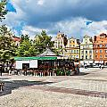 Flowers In Salt Square - Wroclaw Poland by Frank Bach
