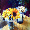 Flowers On Table by Gerry Robins