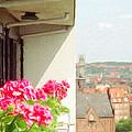 Flowers On The Balcony by Jeff Kolker