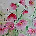 Flowers - Watercolor Painting by Ismeta Gruenwald