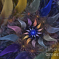 Flowery Fractal Composition With Stardust by Karin Kuhlmann