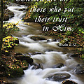 Flowing Creek With Scripture by Jill Lang
