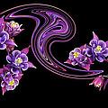 Flowing Purple Velvet 2 by Gill Billington