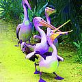 Fluorescent Pelicans by Margaret Saheed