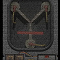 Flux Capacitor Mosaic by Paul Van Scott