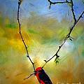 Fly Catcher In Heart Shaped Branch by John  Kolenberg