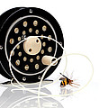 Fly Fishing Reel With Fly by Tom Mc Nemar