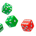 Flying Craps Dice  by Olivier Le Queinec