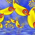 Jumping Fantasy Animals by Gabiw Art