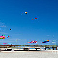 Flying Kites From The Pier by Michelle Constantine