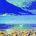 Seagull Flying Low, Mountains Standing Tall  by Hilde Widerberg