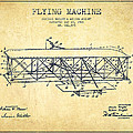 Flying Machine Patent Drawing From 1906 - Vintage by Aged Pixel