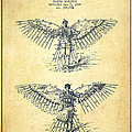 Flying Machine Patent Drawing-vintage by Aged Pixel