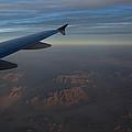 Flying Over The Mojave Desert At Dawn by Georgia Mizuleva