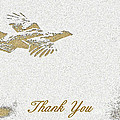 Flying Ruffed Grouse Thank You by Timothy Flanigan