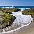 Wave Receding by Robert VanDerWal
