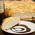 Focaccia Bread With Balsamic Vinegar by Andy Crawford