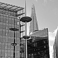 Focus On The Shard London In Black And White by Gill Billington