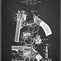 Foehl Revolver Patent Drawing From 1894 - Dark by Aged Pixel